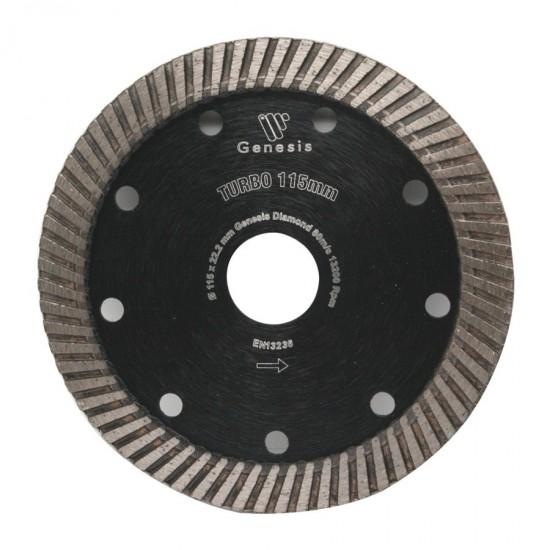 Disco diamantato turbo