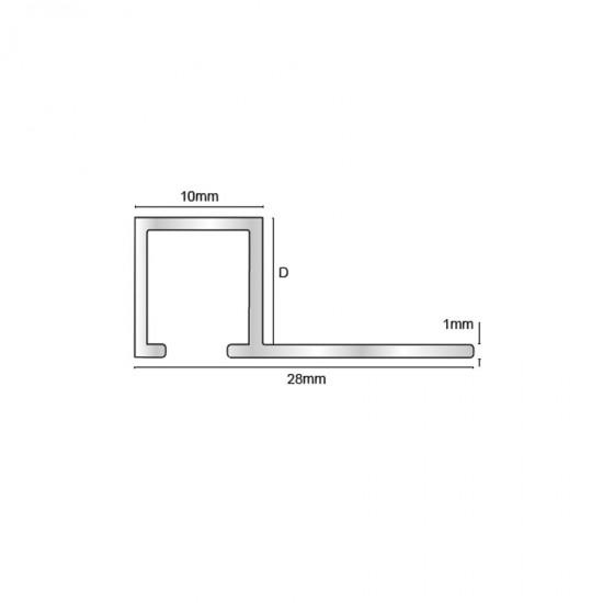TDB - Profilo quadro ottone