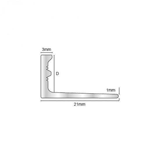ESB - Profilo angolare acciaio (ottone)