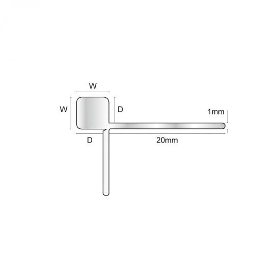 EAM - Aluminium slim square trim