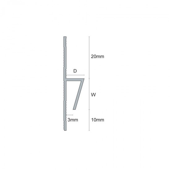 Raccordo PVC piastrella/vinile (flangia punzonata)