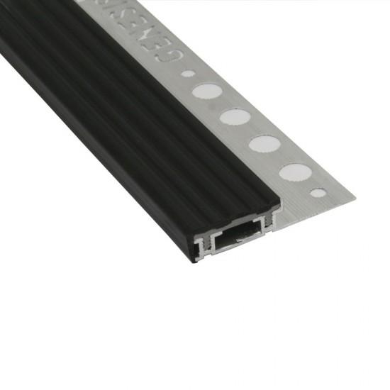 Terminale in alluminio con top in PVC
