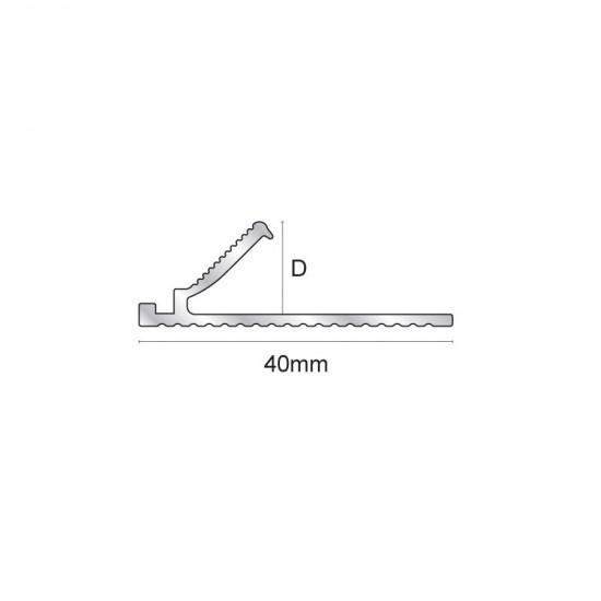 Giunzione per terminale in aluminio per moquette