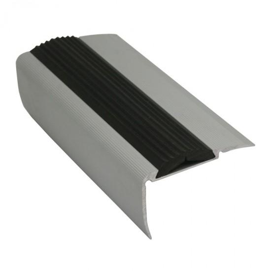 Terminale in alluminio con inserto in gomma nera