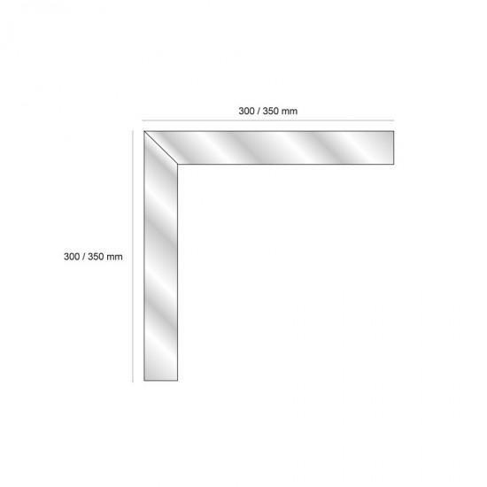 Stair edge trim pre-formed