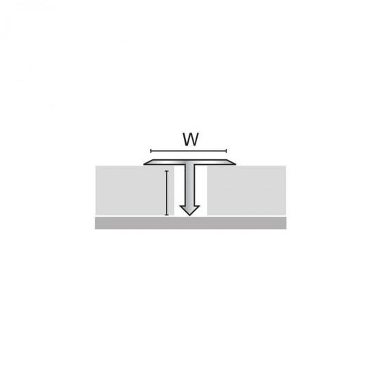 Profilo divisorio in ottone