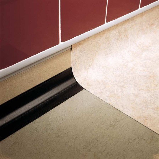 PVC vinyl to tile joint - unpunched flange