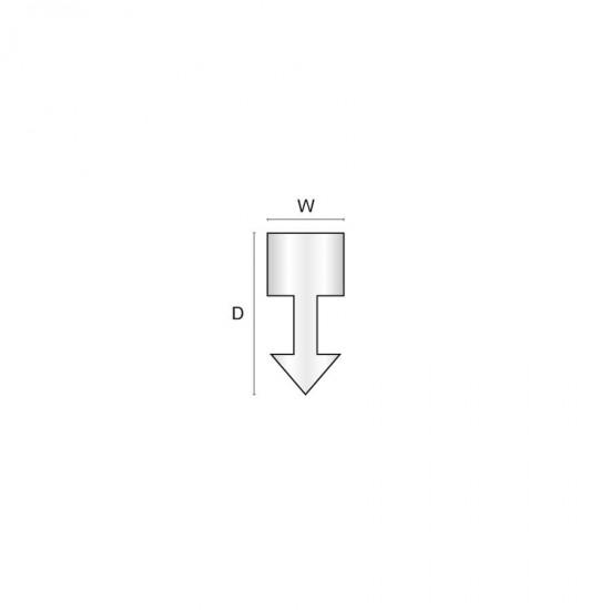 Aluminium dividing strip