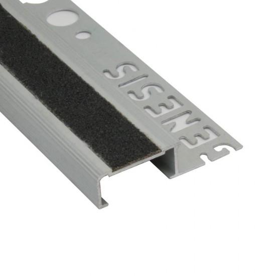 Terminale in alluminio con inserto antiscivolo